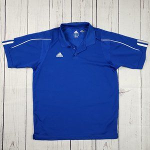 Adidas Climacool Blue Polo Shirt Men's Size Small